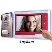 Anykam DT591+692SD-rot Video Gegensprechanlage Türsprechanlage Bildspeicher 2Draht