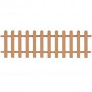 vidaXL Gard din șipci, lemn compozit, 200 x 60 cm, maro