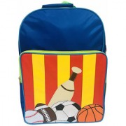 Li'll Pumpkins Blue Baseball School Backpack bag