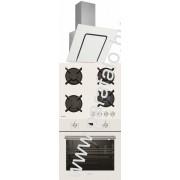 SIMFER 3423 90 fehér - 6400 NGSBB - 6206 OERBB Beépíthetõ sütõ üveg-gázfõzõlap páraelszívó szett