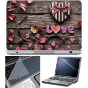 Finearts Laptop Skin 15.6 Inch With Key Guard & Screen Protector - Live Wooden