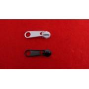 Kocsi laza RT0 spirál cipzárhoz - 3 mm-es fekete - fehér