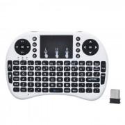 2.4G mini raton inalambrico de teclado USB de la version del teclado - negro + blanco