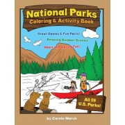 America's National Parks Coloring and Activity Book, Paperback