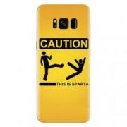 Husa silicon pentru Samsung Galaxy S8 This Is Sparta Funny Illustration