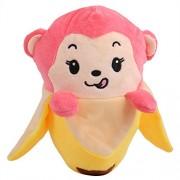 Chocozone Birthday Gift for Boys & Girls - Pink Monkey in Banana Soft Toy