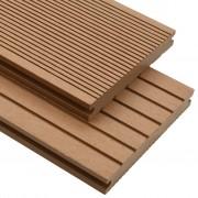 vidaXL Panneaux de terrasse solides et accessoires WPC 10m² 2,2 m Teck