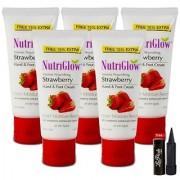 Nutriglow Intense Nourishing Strawberry Hand Foot Cream (Pack Of 5)