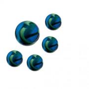 WeGlow International Sea Turtle Colored Marble Set - 10 Medium Marbles and 25 Small Marbles