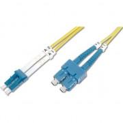 Patch Cord fibra optica, Digitus, duplex SM 9/125 LC / SC 2m, Galben