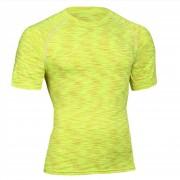 Camisetas Hombres Manga Corta Deportivas Manga Corta Sudadera Amarillo