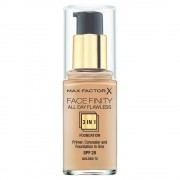 Max Factor Foundation Face Finity All Day Flawless 3W1 - Base De Maquillaje 30Ml 75 Golden