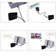 EB 3.5mm Adaptador Receptor De Audio Bluetooth Reproductor De Música Estéreo Inalámbrico Sin Pérdida-negro