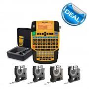 Aparat etichetat industrial Dymo Rhino 4200 kit cu servieta QWERTY si 4 consumabile