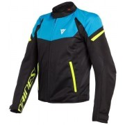 Dainese Bora Air Tex Jacket Black/Fire Blue/Fluo Yellow 56