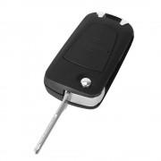 Carcasa cheie auto cu 2 butoane si Lamela cu canelura pe stanga pentru transformat, compatibil Opel OP-145