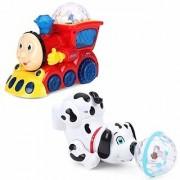 Combo Gift Set Dancing Dog Lighting Train