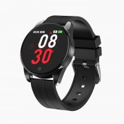 1.3-inch Color Screen M12 Smart Watch Business Bracelet Heart Rate Monitor Sports Smartwatch with Silicone Strap - Black
