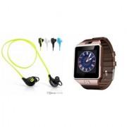 Zemini DZ09 Smartwatch and Jogger Bluetooth Headphone for SAMSUNG GALAXY S III NEO(DZ09 Smart Watch With 4G Sim Card Memory Card| Jogger Bluetooth Headphone)