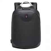 15.6 inch Laptop Backpack Bag Anti-Theft Men Backpack USB Charging Waterproof Travel Rucksack Knapsack Password Lock Business Backpack for Businessman College Students (Black)