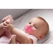 Suzeta Chicco silicon monobloc Physio Soft Light forma ortodontica 16-36 luni roz