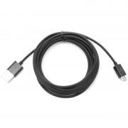 Cabo USB 2.0 / MicroUSB - 3m - Preto