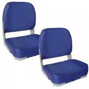 Комплект от 2 седалки за капитанско място на моторна лодка/яхта, Синя