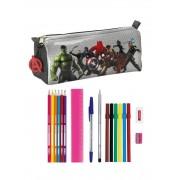 SAFTA Astuccio Portapenne Scuola Avengers Age Of Ultron 17 Piece Pencil Case 20 Cm
