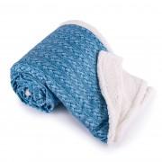 Pătură imitaţie de blană Maglia, albastru, 150 x 200 cm