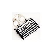 Merkloos Boeven handtasje met handboeien