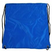 Pytlík do tělocviku / na cvičky jednobarevný stahovatelný modrý 3H02