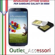 Sostituzione Riparazione Lettore Sim Pista Flat Scheda Rotto per Samsung Galaxy S4 I9500 I9505
