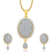 Sukkhi Winsome Gold And Rhodium Plated CZ Pendant Set For Women