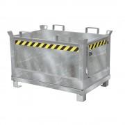 Klappbodenbehälter Volumen 0,5 m³ feuerverzinkt nach EN ISO 1461