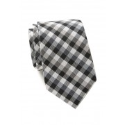 Ben Sherman Nolan Check Silk Tie BLACK
