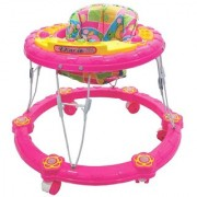Ehomekart Pink Winny Round Musical Walker for Kids