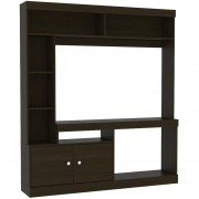 "Mueble Rack TuHome Dante para TV hasta 52"" Wengue - Negro"