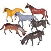 """6 Horses 6"""" Each 1/32 Scale Horse Toy Barn Farm"""