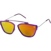 Foxy Rectangular Sunglasses(Orange)