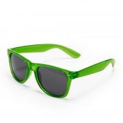 Geen Groene retro model zonnebril voor volwassenen
