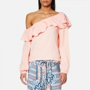 MINKPINK Women's On the Sly One Shoulder Top - Blush - S - Pink