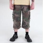pantaloncini uomo 3/4 MIL-TEC - Aria Combat - Prewash Woodland - 11410020