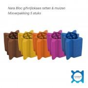 Nara Bloc lokmiddel rat/muis mixverpakking 5st