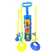 Golf Set Toy For Children Golfing Club With 3 Clubs 4 Balls 2 Practice Holes 2 Tees And 2 Flags Golfing Set Color Blue Brand New