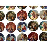 The Holy Family Assorted Nativity Scenes Stickers, 1 1/2 Inch, Roll Of 100