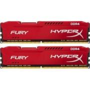 Kingston Hyper-x Fury 32Gb(16Gb x2) DDR4-3200 (pc4-25600) CL18 1.2v Desktop Memory Module with Red asymmetrical heatsink