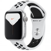 Apple Watch Nike Series 5 GPS 40mm Silver Aluminium Case Pure Platinum/Black Nike Sport Band