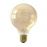 Calex LED Full Glass Flex Filament Globe Lamp E27 G95 - Gold