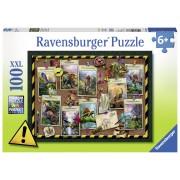 PUZZLE DINOZAUR, 100 PIESE - RAVENSBURGER (RVSPC10868)