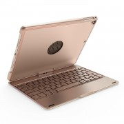 F180 Aluminum Alloy 360 Degree Rotation Bluetooth Keyboard for iPad 9.7 (2018)/9.7 (2017)/Pro 9.7 inch (2016)/Air 2/Air - Gold
